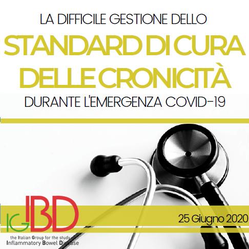 La difficile gestione dello standard di cura delle cronicità durante l'emergenza COVID-19