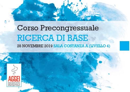 CORSO PRECONGRESSUALE RICERCA DI BASE