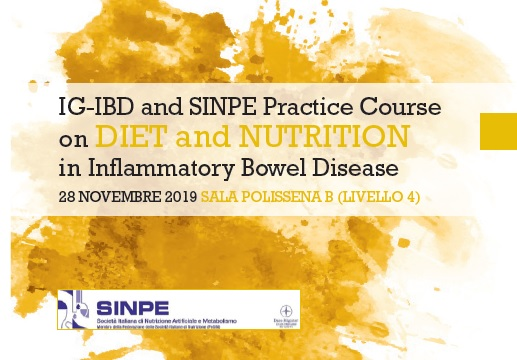 "IG-IBD and SINPE Practice Course on ""Diet and Nutrition in Inflammatory Bowel Disease"""